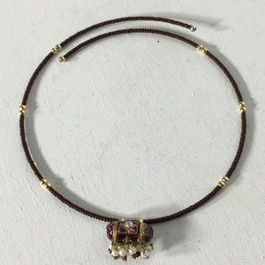 Vintage Beautifully Beaded Choker Necklace